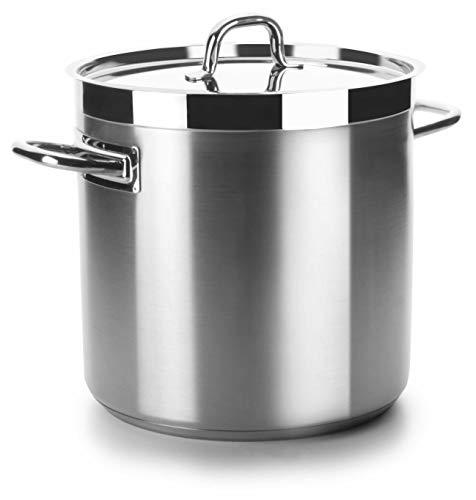 Lacor Chef Lux Olla de Sopa sin Tapa, Plateado, 24 Ø(cm)