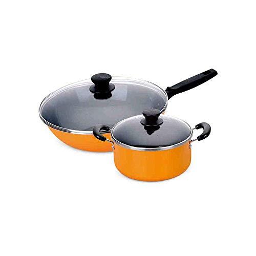 SPNEC Kupfer Kochgeschirr Pfannen und Töpfe Set - Bratpfanne mit Deckel, mit Deckel, Dampfgarer Inert & Utensilien for Induktion, (Size : 32cm)