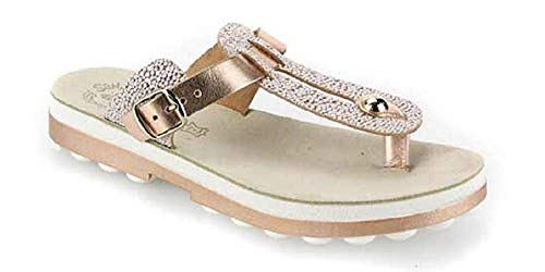 Fantasy Women's Mirabella Slide Sandals (Rose Gold Caviar, 38 M EU)