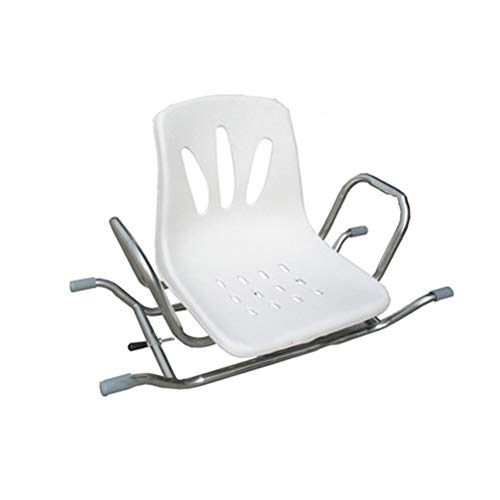 ZXY-NAN Bathroom Wheelchairs Bather Rotating Transfer Aid Bathroom Seat with Back Support and Armrest for Elderly Injured Pregnant Women Handicapped Bath Swivel Chair