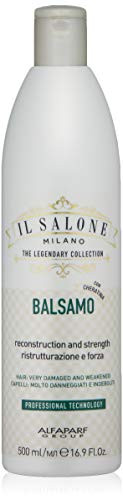 Il Salone Milano Professional Keratin Conditioner for Very Damaged Hair - Reconstruction, Strengthen and Repair - Premium Quality - 16.91 Fl. Oz. / 500ml