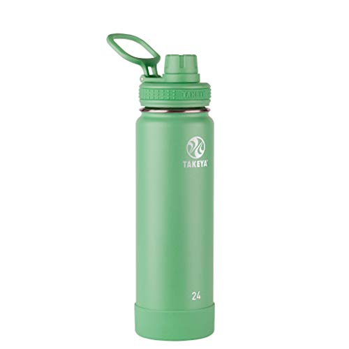 Takeya Actives Insulated Water Bottle w/Spout Lid, Mint, 24 Ounce