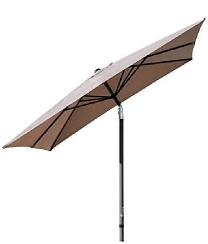 Pure Home & Garden Kurbelschirm 250x250 Taupe, mit UV-Schutz 40 Plus, Knicker und abnehmbarem Bezug