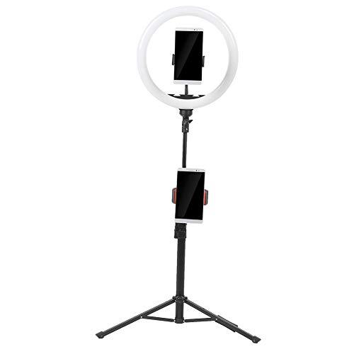 Luz de Relleno Selfie de 12 Pulgadas, Anillo de Luz LED Regulable con Soporte para TeléFono con TríPode, Soporte de Luz de Anillo de 3 Modos de Luz, Para Video de Maquillaje Para TransmisióN En Vivo
