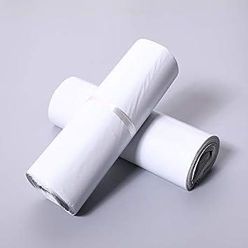 KLH 100 x Sacs dExp/édition Plastique Pochettes Enveloppes Postales Couleur Blanc 16 * 22cm