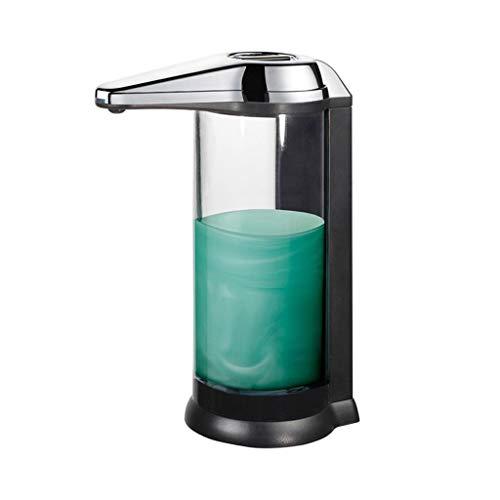 LDDLDG Dispensador de Jabón Bomba dispensadora de jabón con Sensor infrarrojo Transparente automático, Botella de jabón líquido de plástico sin Contacto for baño de Cocina, 500 ml (Color : Chrome)