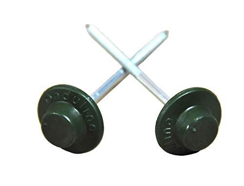 ONDULINE Dachnägel Nägel für Dachplatten Wandplatten 65 mm Kopf rund grün, Stück:500