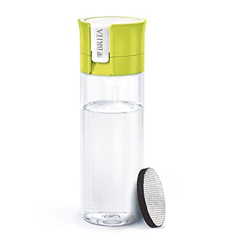 BRITA Botella filtrante Lima - Filtro Tecnología MicroDisc, Óptimo sabor para disfrutar en cualquier lugar, Botella de Agua sin BPA, 0.6 litros