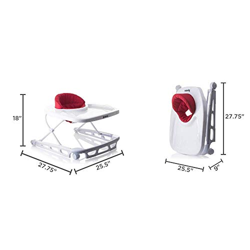 Adjustable Baby Walker, Activity Center, Charcoal