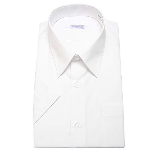 [スティングロード] 男子スクールシャツ 男子 半袖 学生用 スクールシャツ 形態安定 制服 Yシャツ カッターシャツ MA310-AM-1 ホワイト 日本 155A (日本サイズS相当)