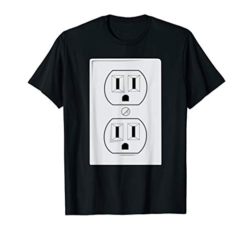 Electrical Outlet Plug And SOCKET Couples Costume Halloween T-Shirt