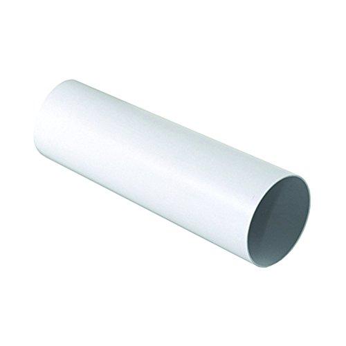 Tubo D/100 mm lunghezza 1 ml per Aerazione Canalizzata Cappa Cucina in Pvc Colore Bianco