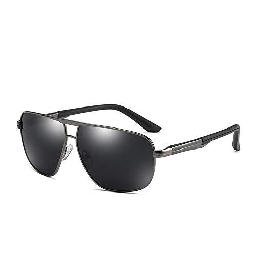 Gosunfly Gafas de sol polarizadas de aluminio y magnesio Máscara de tinta Gafas de máscara-Como se muestra_C2 Marco de pistola Película negra y gris