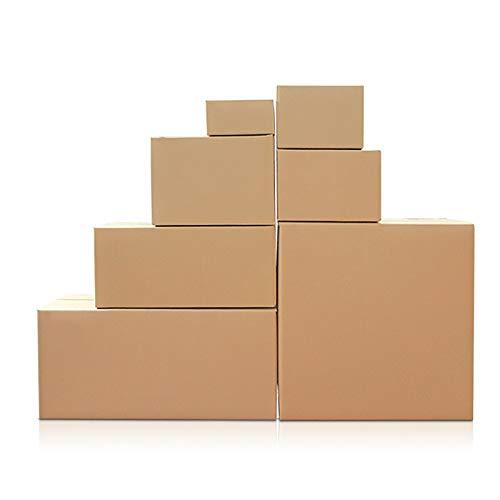YI-LIGHT Caja de Embalaje, Paquete de 100 Cajas pequeñas para mudanza Cajas de cartón para Embalaje Corrugado, cartón, Cajas de envío de Entrega para mudanza y Almacenamiento (Size : 130 * 80 * 90mm)