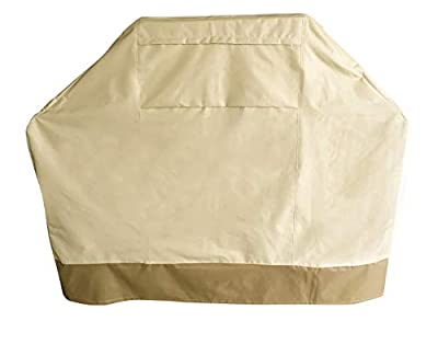 ABO Gear Grill Cover 58 Inch Heavy Duty Gas Barbeque Grill Cover BBQ Grill Covers,Beige Color