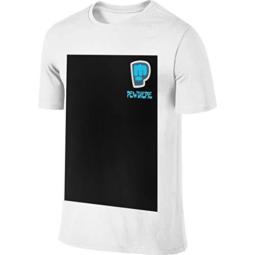 Pewdiepie Logo Jugend Männer T-Shirt Golf Poloshirts Kurzarm S-6xl Casual Fitness Shirts Rundhalsausschnitt Baumwolle Sport Top XL