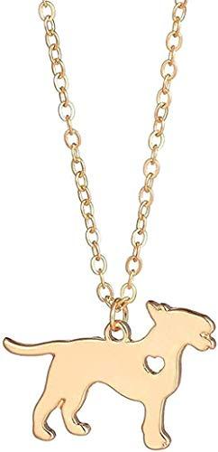 Halskette Modische Bullterrier Bullterrier Halskette Tier Hund Haustiere Halsband Kette Anhänger Anhänger Anhänger Rasse Rasse Schmuck Für Frauen Männer Geburtstagsgeschenk Anhänger Halskette Geschenk