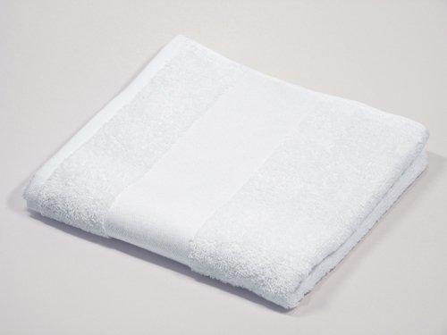 Handtuch 50x100 Best Print zum Besticken und Bedrucken -weiß
