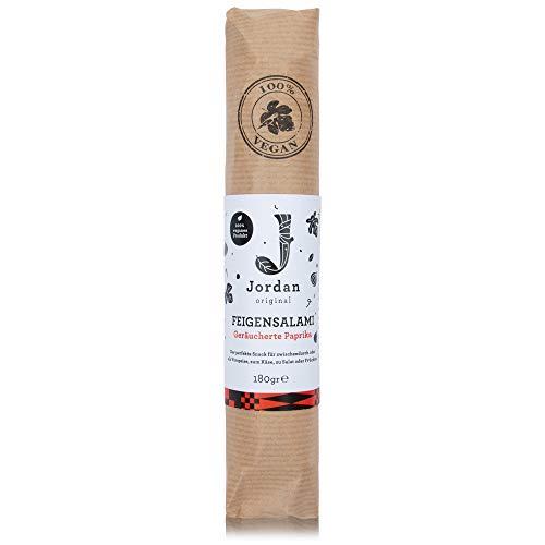 Jordan Original – Feigensalami Geräucherte Paprika 180 g 100% vegane Wurst aus getrockneten griechischen Feigen