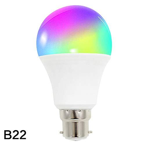 ZHAOHE Smart WiFi Downlight Bulb Dimmende Glühbirne mit APP-Fernbedienung und Sprachsteuerung RGBW 16 Millionen Farben 10W LED WiFi Lampe Kompatibel mit Amazon Alexa Google