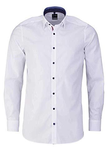 OLYMP Level Five Body fit Hemd Langarm mit Besatz weiß Größe 39