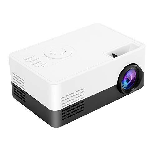 Goshyda Proyector, Mini Home LED HD 1080P 100-240V Proyector de Reproductor básico Multimedia portátil, para el Dormitorio de la Oficina en casa al Aire Libre(Enchufe de la UE)