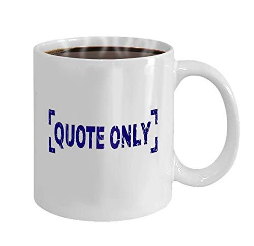 N\A Taza de café Personalizada Regalos de cerámica Taza de té Solo cotización Sello de Etiqueta Impresión con Textura de Angustia La Leyenda de Texto se coloca Dentro de Las Esquinas Vector Azul