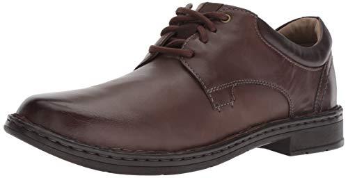 Clarks Men's Gadson Plain Oxford, Dark Brown Leather, 8.5 M US
