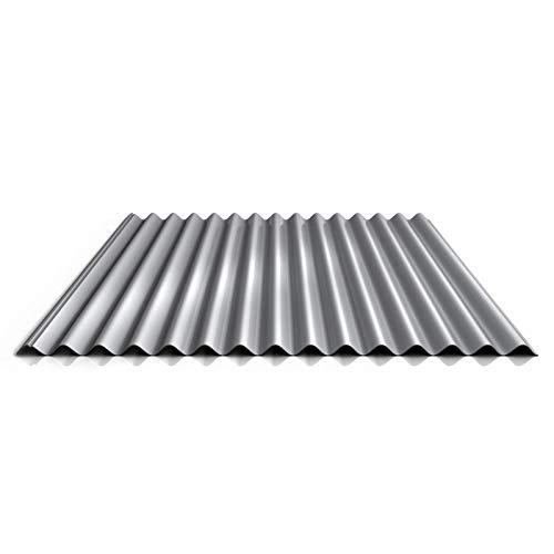 Wellblech | Profilblech | Dachblech | Profil PS18/1064CR | Material Stahl | Stärke 0,50 mm | Beschichtung 25 µm | Farbe Weißaluminium
