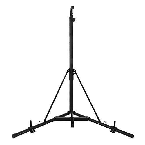 Happybuy Folding Boxing Heavy Bag Stand, Height Adjustable Sandbag Rack Portable 330LB Heavy Duty Punch Bag, Stand Free Standing in The Corner Punching Suspension Bracket for Home Fitness (Black+)