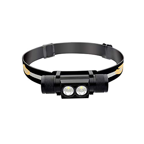 FOWYJ IPX6 Wasserdicht Angeln Scheinwerfer, USB Wiederaufladbare Einstellbare Doppelscheinwerfer Für Outdoor-Sportarten Camping Reiten Scheinwerfer