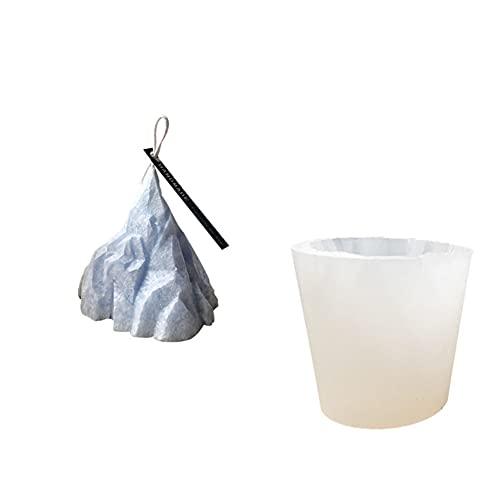 LFONCE Moldes de vela de aromaterapia 3D, moldes de vela Iceberg, moldes de vela de Navidad de plástico, moldes de jabón/moldes para hornear