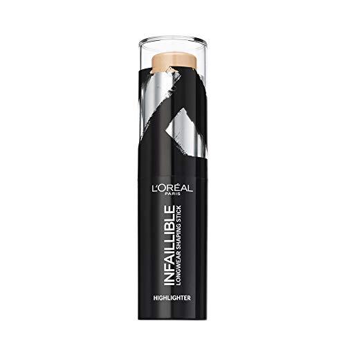 L'Oréal Paris Infaillible Kontur-Stick Highlighter 502 Gold is cold, 1er Pack (1 x 9 ml)