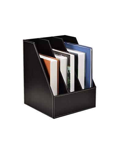 Archivo de escritorio Organizador Carta bandejas de cuero, organizador de archivos/soporte de archivo, gabinetes de archivos Soporte de archivo Revista Rack File Archiving Desktop Storage, B Dirgee