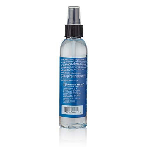 Ghost Mist Argan Oil Finishing Hairspray - Anti Frizz and Smoothing with Heat Protectant - Textute Styling Hair Gloss for Hairpiece and Wigs (6oz)
