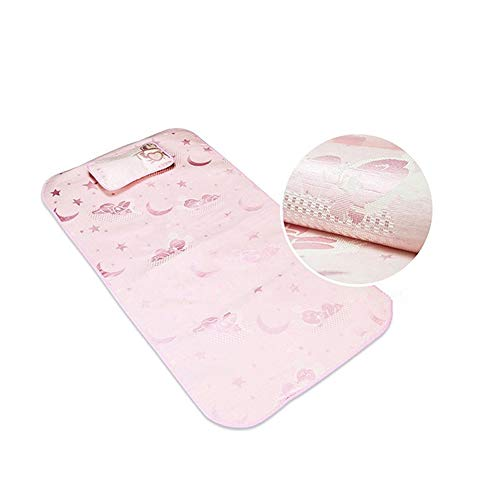 Nursery Sleep Summer babyluiers te wisselen Matras Cooling Mat met Pillow Pasgeboren Ice Silk Slapen Crib Pad Infant Bedding Set,A,120 × 60cm