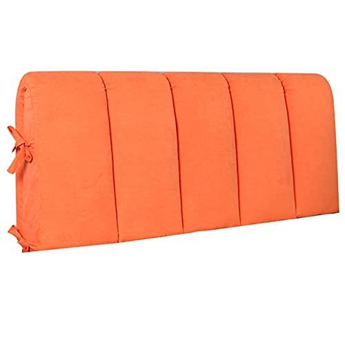 YXYH Funda Cabecera Cama Lujo Moderno Franela Suave Todo Incluido Funda Cabecera Cama Protector Antipolvo para Respaldo Cama Suave por Inicio Hotel (Color : Orange, Size : 150x50cm)