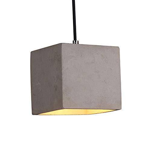 KAIKEA Creatividad Lámpara de Cemento Industrial Rústico Europa del Norte Lámparas Colgantes Personalidad Moderno Cuadrado Café Edside Lámpara de casa Casa de Familia Bar Pasillo Lámpara Colgante