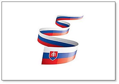 Kühlschrankmagnet, Motiv: Flagge mit der Flagge der Republik, Illustration