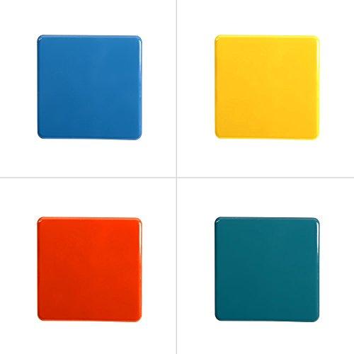 Table Passion - set de 6 sous verre arc en ciel 11cm (1 modèle aléatoire)