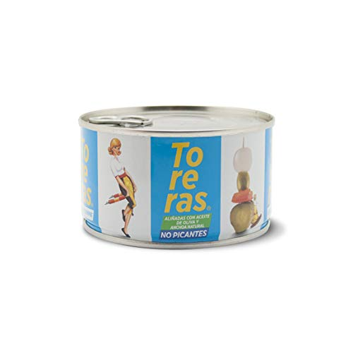 Banderillas Toreras no picantes aliñadas con anchoa natural y aceite de oliva. Pack 2: Banderillas de aceituna, cebolla, pepinillo, pimiento. Banderillas originales Toreras. Encurtido hecho en España