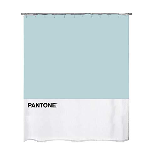 balvi Duschvorhang Pantone Blau Farbe wasserdicht Duschvorhang und Bad, moderner und origineller Stil Polyester 200x180x0,25 cm