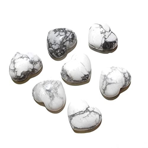 Joyas para mujeres Piedra natural Turquesa Cabochon de espalda plana Forma de corazón Sin agujero Perlas sueltas para la fabricación de joyería BRICOLAJE Collar anillo accessorie al menos comprar tres