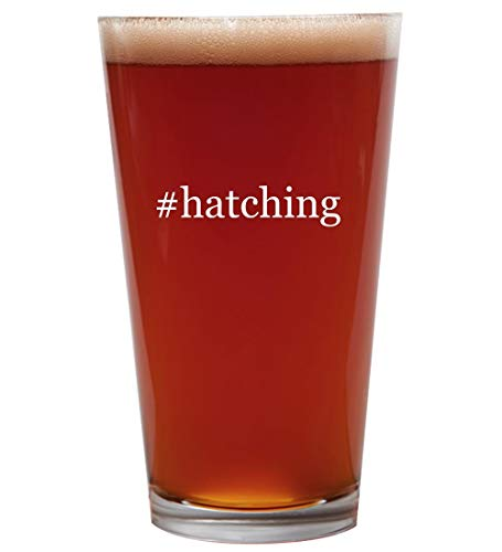 #hatching - 16oz Beer Pint Glass Cup