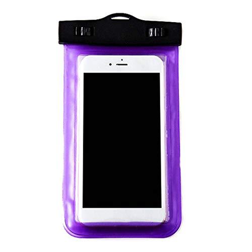 teng hong hui La Caja del teléfono Impermeable a Prueba de Agua Sn Claro Sensitive Touch PVC Sn Bolsa de teléfono para Llamadas de hasta 5,8 Pulgadas