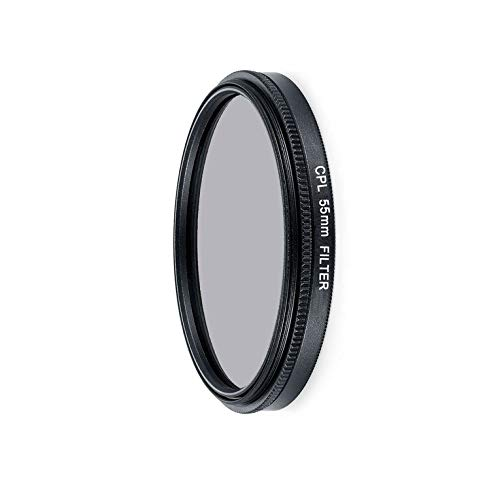 CNmuca Filtro de câmera ultravioleta CPL Filtro de proteção de lente para canon para nikon Filtro de vidro óptico de câmera universal preto 55 mm