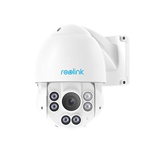 Reolink PTZ Camera Outdoor 5MP Super HD, PoE IP Security Vedio Surveillance, 190ft IR Night Vision Pan Tilt 4X Optical Zoom, 2.7-12 mm Motorized Auto-Focus Lens, 360° View, IP66 Waterproof, RLC-423