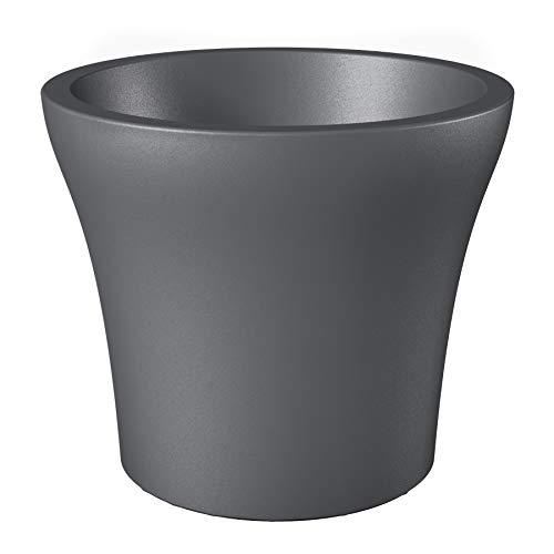 SCHEURICH 55439 0 - Maceta, Color Negro
