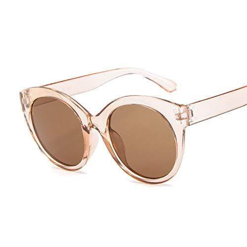 CZFSKCZ Gafas de Sol, Gafas de Sol de Ojo de Gato de Verano Gafas de Sol Femeninas Color Transparente Femenino Color Fresco (Lenses Color : Brown)