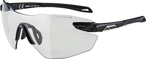 ALPINA Unisex - Erwachsene, TWIST FIVE SHIELD RL V Sportbrille, black matt, One Size